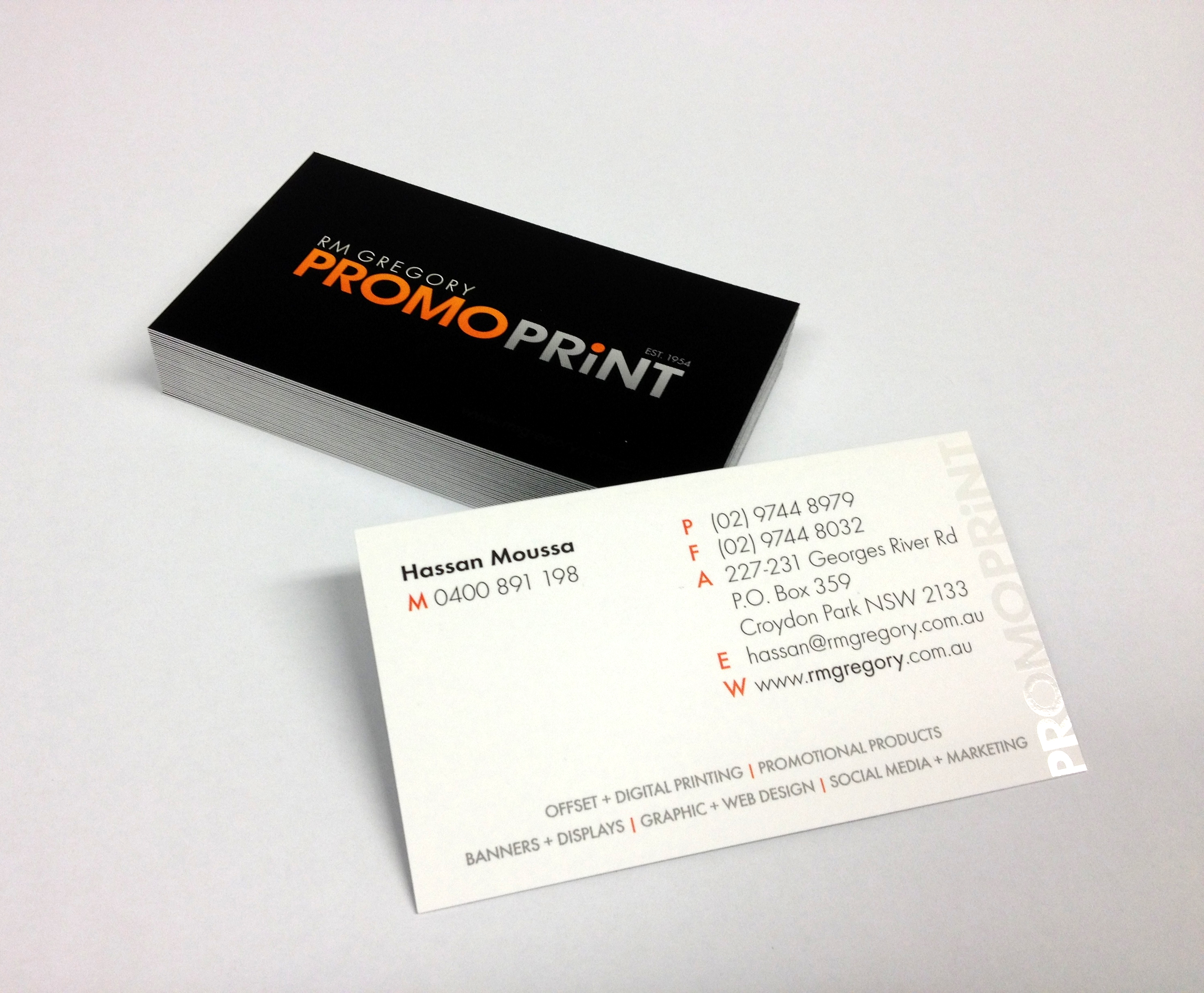 Products business printing packages promoprint business cards remain the fastest mean of referral and introduction dont leave yourself short we can produce any card you like with a huge variety of colourmoves